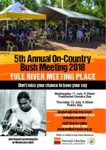 2018 Yule River poster