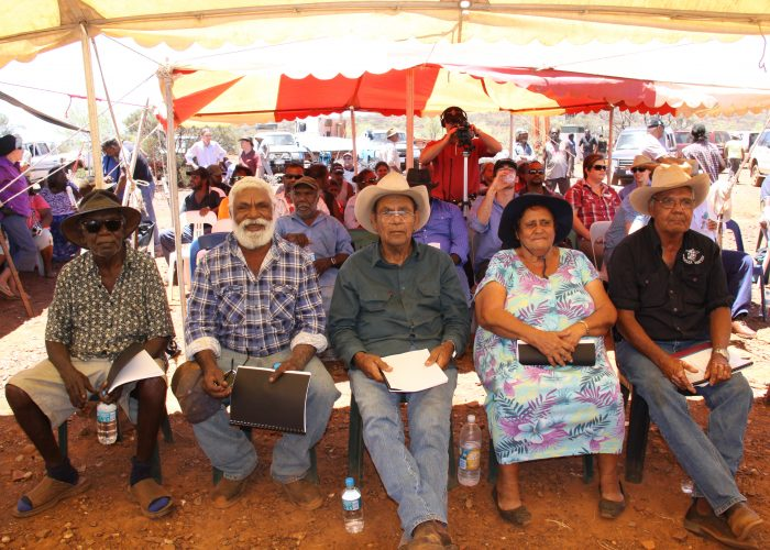 Thudgari elders at the native title determination