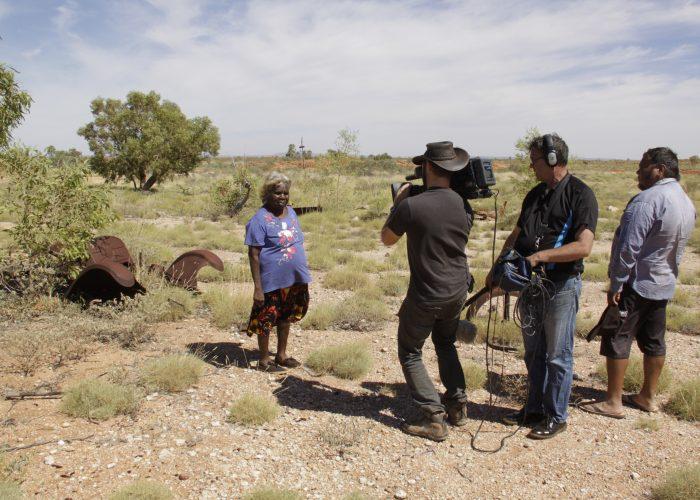 Irene Roberts with FTI film crew