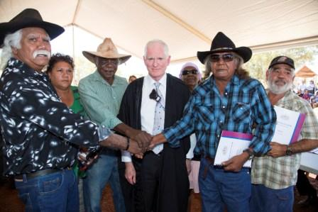 Banjima Traditional Owners with Justice Barker