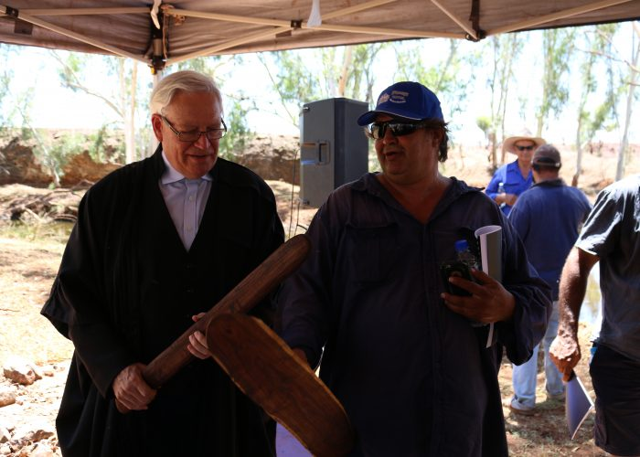 Justice John Reeves and Palyku Traditional Owner